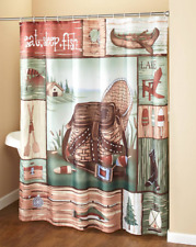 Country Shower Curtain Fabric Bathroom Accessories Fisherman Gift Ideas Fishing
