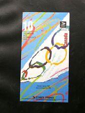 TIMBRES DU CANADA : 1992 CARNET DE 10 TIMBRES JEUX OLYMPIQUES 1992 ** TBE