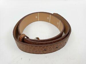 "Footjoy Genuine Leather Belt Brown Snake Skin Effect 39"" Cut To Length / New"
