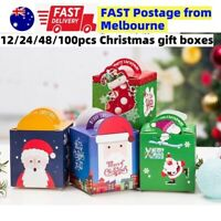 Xmas Christmas Gift Boxes Bags Favour Present Wrapping Candy Cookie Box Party AU