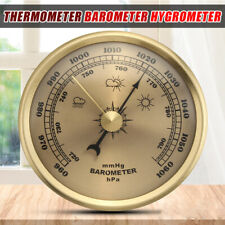 70MM Wall Hanging Weather Station Barometer Thermometer Hygrometer 960-1060hPa
