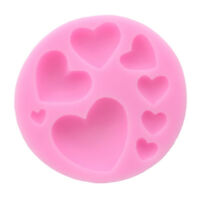 Heart-shaped Silicone Fondant Mold Cake Decor Chocolate Baking Soap Ice Mould G