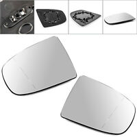 Pair Heated Wing Side Mirror White Glass For BMW X5 X6 E70 E71 E72 2008-2014 A01