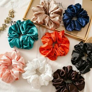 Women Oversize Satin Hair Tie Elastic Scrunchies Ponytail Hair Ring Rope Band US