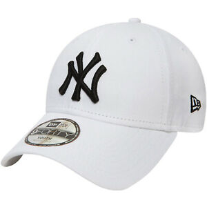 New Era Youths New York Yankees Adjustable 9Forty Cap Hat - White - 6-12 Yrs