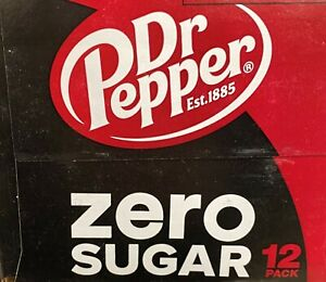 Dr Pepper Zero Sugar Soda 12 pack