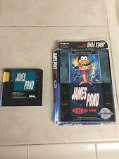 James Pond: Underwater Agent Sega Genesis Game.Great Shape. AUTHENTIC-Works Good