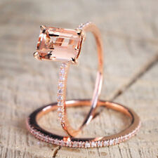 18k Crystal Ring Jewelry Rose Gold Color Rings For Women Girls Gift