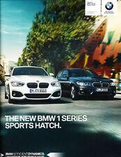 2015 BMW 118i 120i 125i M135i 116d 60-page 1-SeriesUK Car Sales Brochure Catalog