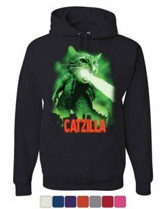 Catzilla Funny Parody Hoodie Cat Kitten Pet Atomic Breath Sweatshirt