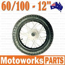 "60/100 - 12"" Inch Knobby Tire & Rim Front wheel BIGFOOT Dirt Pit Trail Por Bike"