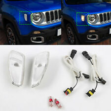 Amber LED Light Clear Side Marker Light Turn Signal Lamp For Jeep Renegade 2016+