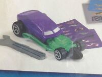 McDonalds Happy Meal Toy HOT WHEELS Dragster Racer Purple Green Car New BNIP