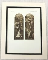 1927 Antico Stampa San Stephen Cristoforo Hans Memling Vecchio Master Pittura