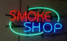 """Smoke Shop 14""""x9"""" Neon Sign Lamp Light Store Bar Cave With Dimmer"""