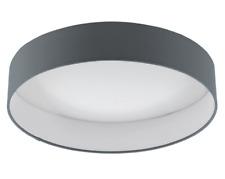 Eglo Palomaro 1 Light Flush Mount Ceiling Light in Anthracite/White (Dia:32cm)