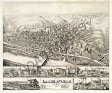 Map of Lambertville New Jersey c1883 24x20