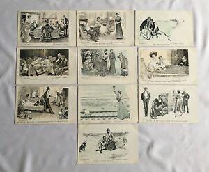 Vintage Victorian Postcards C. Dana Gibson Snap-Shots Job Lot