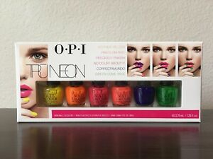OPI TRUNEON Mini Set Nail Polish-Bright-Yellow, Orange, Pink, Coral, Blue, Green