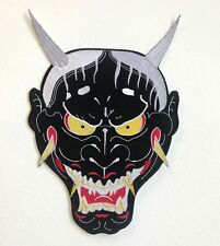 Demon Face cool colour Large Jacket Sew on Embroidered Patch badge