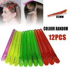 12pcs Colorful Hairdressing Salon Sectioning Clips Clamps Hair Styling Grip ESUS