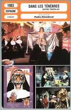DANS LES TENEBRES - Almodovar (Fiche Cinéma) 1983 - Dark Habits/Entre tinieblas