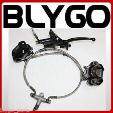 Hydraulic Twin Disc Brake Calipers System + Pads 150cc 250cc Quad Dirt Bike ATV