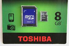 Adaptateur + carte mémoire Micro SD HC 8 GO classe 4 garantie grande marque