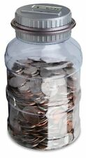 Emerson Coin Bank Counter Sorter Large Capacity Money Jar With Removable Lid N