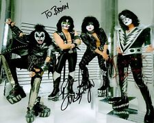 ERIC SINGER+TOMMY THAYER autographed 8x10 photo      MEMBERS OF KISS    To Brian