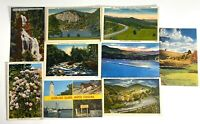 Lot of 9 Scenic Postcards North Carolina Oracoke Highlands Blue Ridge Cherokee