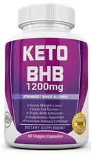 Keto Bhb 1200mg Pure Ketone Fat Burner Rapid Weight Loss Diet Pills Ketosis