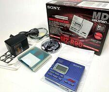 Sony Mz-R909 Md Player/Recorder Minidisc Walkman Blue (Works) with Original box
