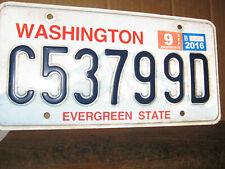 METAL LICENSE PLATE WASHINGTON EVERGREEN STATE C53799D