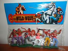 TIMPO COPY WILD WEST HONG KONG SWOPPET PACKED INDIANS #4 (RARE PINKCOAT BRAVE)