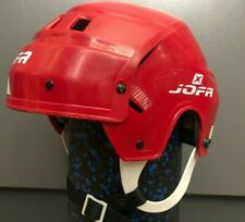 VINTAGE JOFA Play HOCKEY HELMET NICE USED CONDITION red Classic size 49-56