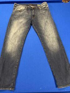 Mavi Jeans Men's Zach Straight Leg Dark Blue Stretch  Denim Size 36x32 EUC