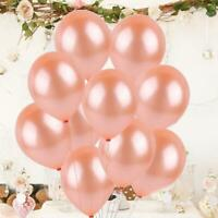 "10 Rose Gold CONFETTI LATEX BALLOONS Helium 12"" Birthday Baloon Party Wedding"