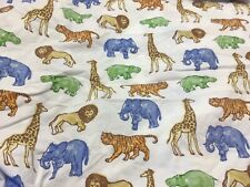 Pottery Barn Kids Animals Fitted Crib Sheet