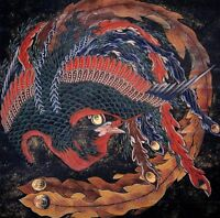 "perfect  oil painting handpainted on canvas ""Hokusai Phoenix""@N10712"