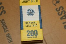 GE 200 Watt standard base 200 w Incandescent Inside Frost Light Bulbs lot of 6
