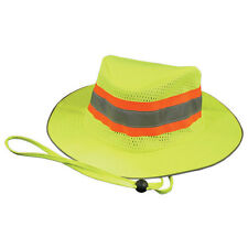 ERB INDUSTRIES S320 Lime Hi-Vis Boonie Hat Reflective One Size Fits All