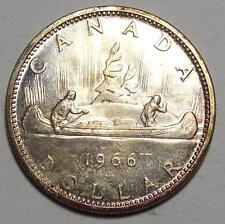 1966  CANADA  DOLLAR  Toned BU    **Free U.S. Ship
