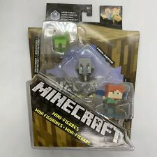 Minecraft Minifigures Wood Series 10, 3-pack Green Sheep,Evoker, and Alex NIB