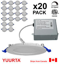 YUURTA (20-pack) 4 Inch Pot Light l10W Recessed Ceiling LED Downlight Dimmable