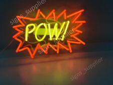 "New Pow Neon Sign Acrylic Gift Light Lamp Bar Wall 14""x10"""