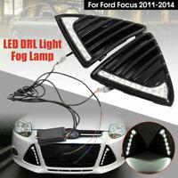 2pcs 7 LED Tagfahrlicht Nebelscheinwerfer DRL Lampe Für Ford Focus MK3 2011-2014