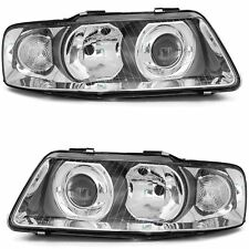 2 PHARES AUDI A3 8L PHASE 2 GLACE LISSE CHROME 9/2000-3/2003 LOOK XENON CLIGNO