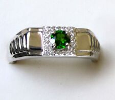 Men's Chrome Diopside Ring / size 12 / 925 Sterling Silver / 0.70cts, 6.8 grams