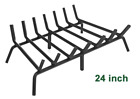 KingSo Fireplace Grate Cast Iron 24 inch, Steel log Grate Holder